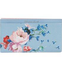 women's ted baker london raspberry ripple leather travel wallet -