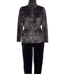 decoy velour homewear set pyjama grijs decoy