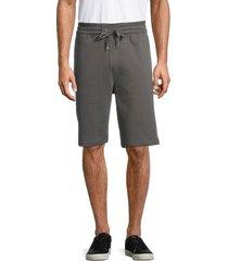 helmut lang men's sweat shorts - gunmetal - size xl