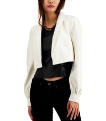 inc cropped faux-leather blazer, created for macy's