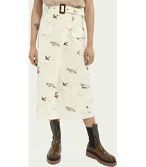 scotch & soda midi length ecovero™-blend wrap skirt