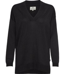 ana v-neck sweater gebreide trui zwart lexington clothing