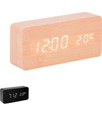 relógio digital de mesa com termômetro uny gift