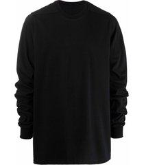 rick owens crew-neck fitted sweatshirt