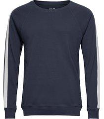 cotton rib stelt tape sweat-shirt trui blauw mads nørgaard