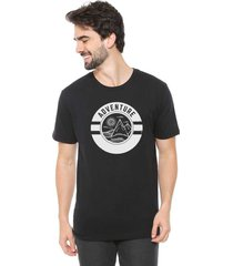 camiseta de algod o masculina eco canyon adventure preta, black / gg
