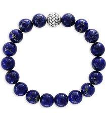effy men's sterling silver & lapis lazuli bracelet - blue