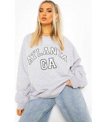 oversized atlanta sweater, grey marl