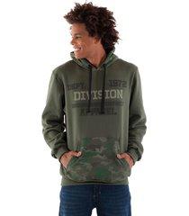 blusão konciny moletom estampado verde