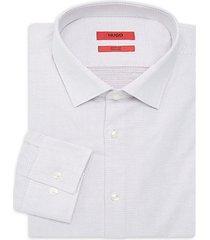 kenno slim-fit stretch pin dot dress shirt