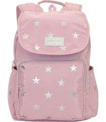 mochila symbol estrellas rosada head