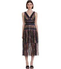 self-portrait dress in multicolor polyester