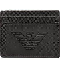 emporio armani logo credit card holder