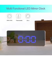 reloj despertador led con espejo digital multifunción