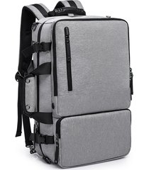 "mochila antirobo multifuncional de oxford y 16"" e-hot - gris"