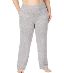 cuddl duds women's plus size soft knit lounge pants