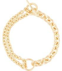 all blues double link bracelet - gold