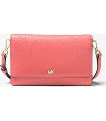 mk borsa a tracolla convertibile in pelle martellata - pompelmo rosa (rosa) - michael kors