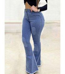 denim cinco bolsillos cintura media jeans
