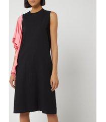 jw anderson women's beaded drape shift dress - black - uk 8 - black