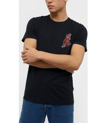 solid henson ss t-shirt t-shirts & linnen black
