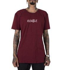 camiseta longline stoned gold humble bordã´ - bordã´/vinho - masculino - algodã£o - dafiti