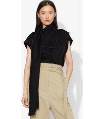 proenza schouler short sleeve scarf top black 0