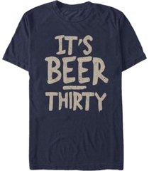 fifth sun men's beer thirty short sleeve crew t-shirt