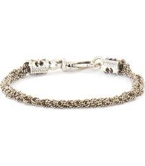 sterling silver crochet chain bracelet