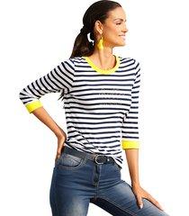 shirt amy vermont marine::offwhite::geel