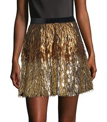 cina embellished glitter tassel mini skirt