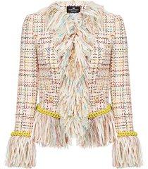 fringe jacket tweed