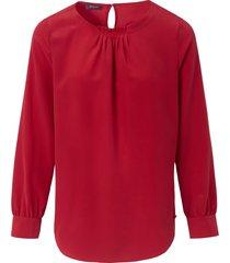 blouse van 100% zijde van basler rood