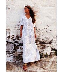pink city prints santorini dress white