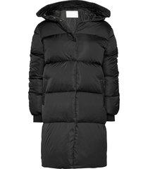 2nd puff gevoerde lange jas zwart 2ndday