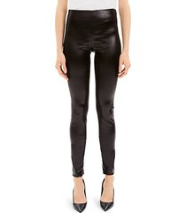 skinny vegan leather leggings