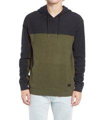 men's rvca men's mifflin colorblock hooded sweatshirt