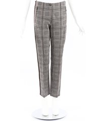 cambio ross plaid straight leg ankle pants black/white sz: m