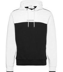 color block hoodie hoodie trui wit calvin klein