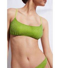 calzedonia tank-style swimsuit top las vegas woman green size 4