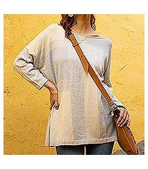 pima cotton blend pullover, 'sun block' (peru)