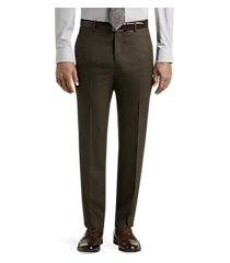executive collection tailored fit flat front sharkskin dress pants clearance by jos. a. bank