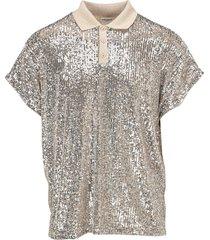 saint laurent sequinned polo shirt