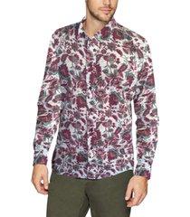nick graham men's printed paisley performance shirt