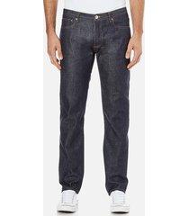a.p.c. men's petit new standard mid rise jeans - selvedge indigo - w34/l32 - blue