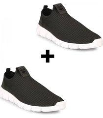 pack de  zapatillas kioshi hombre bokeh ng/bl