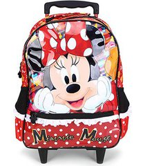 mochila escolar infantil disney xeryus com rodas 16 minnie its all about minnie