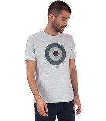 ben sherman mens check target t-shirt size 2xl in grey