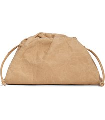 bottega veneta the mini pouch paper shoulder bag - beige