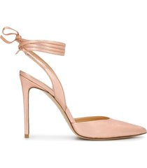 giuliano galiano naomi ankle-tie pumps - pink